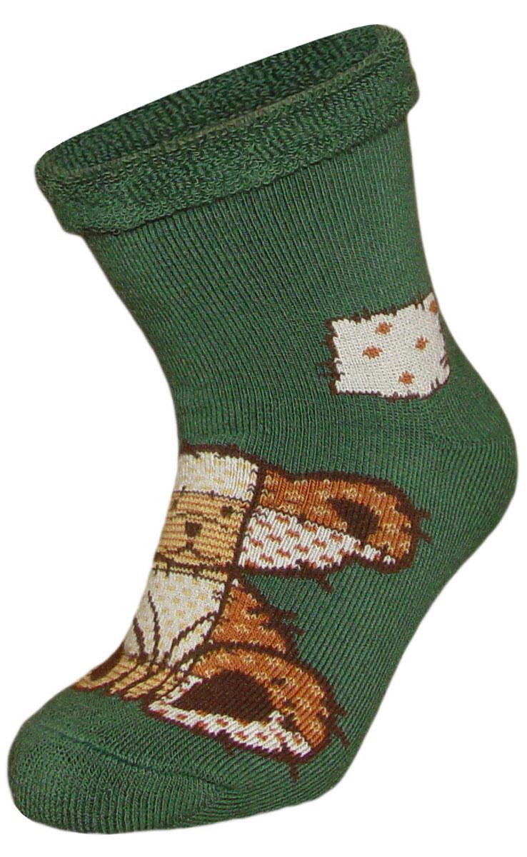 Носки детские Гранд, цвет: зеленый, 2 пары. YCL41M. Размер 18/20YCL41MДетские зимние носки выполнены из высококачественного хлопка. Махра отлично сохраняет тепло. Носки с текстурным рисунком плюшевый мишка хорошо держат форму и обладают повышенной воздухопроницаемостью, имеют безупречный внешний вид, после стирки не меняют цвет, усилены пятка и мысок. За счет добавленной лайкры в пряжу, повышена эластичность и срок службы изделия.Носки долгое время сохраняют форму и цвет, а так же обладают антибактериальными и терморегулирующими свойствами.