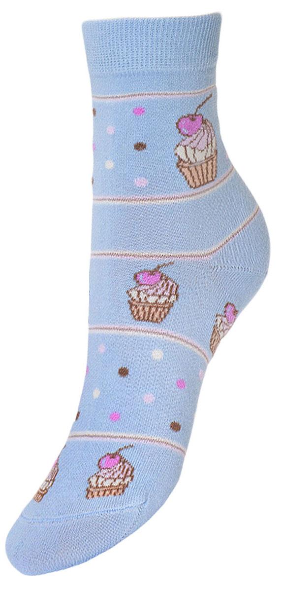 Носки детские Гранд, цвет: голубой, 2 пары. YCL45. Размер 20/22YCL45Детские носки выполнены из высококачественного хлопка, предназначены для повседневной носки. Носки с текстурным рисунком по всему носку пирожное с вишней имеют бесшовную технологию зашивки мыска (кеттельный шов), безупречный внешний вид, хорошо держат форму и обладают повышенной воздухопроницаемостью, после стирки не меняют цвет, усилены пятка и мысок. За счет добавленной лайкры в пряжу, повышена эластичность и срок службы изделия.Носки долгое время сохраняют форму и цвет, а так же обладают антибактериальными и терморегулирующими свойствами.