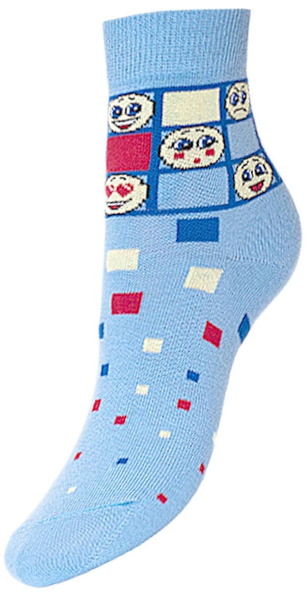 Носки детские Гранд, цвет: голубой, 2 пары. YCL47. Размер 18/20YCL47Детские носки выполнены из высококачественного хлопка. Носки с текстурным рисунком разноцветные квадратики и смайлики хорошо держат форму и обладают повышенной воздухопроницаемостью, имеют безупречный внешний вид, после стирки не меняют цвет, усилены пятка и мысок.Носки долгое время сохраняют форму и цвет, а так же обладают антибактериальными и терморегулирующими свойствами.