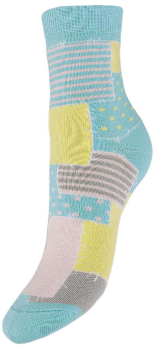 Носки детские Гранд, цвет: бирюзовый, 2 пары. YCL48. Размер 18/20 носки детские гранд цвет серый 2 пары ycl8 размер 18 20