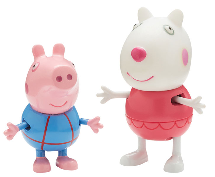Peppa Pig Набор фигурок Сюзи и Джордж peppa pig playing football