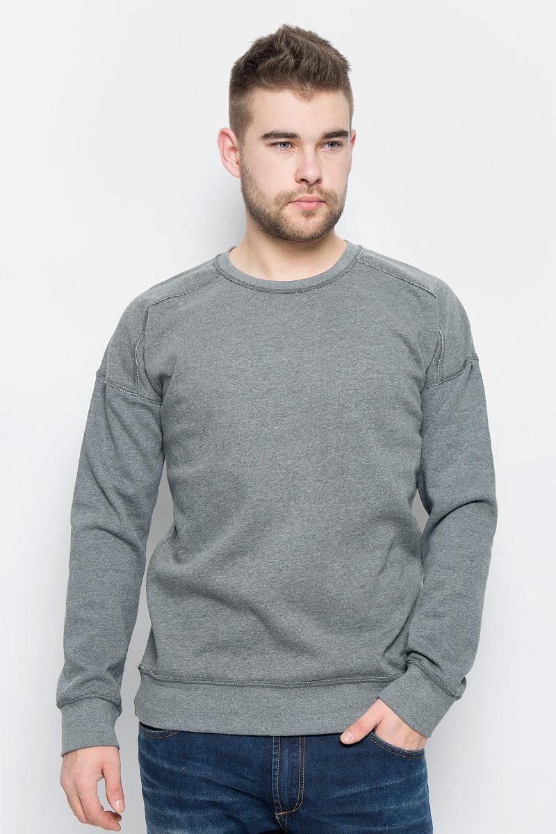 Свитшот мужской Broadway, цвет: серый меланж. 20100260_833. Размер L (50) пуловеры broadway пуловер