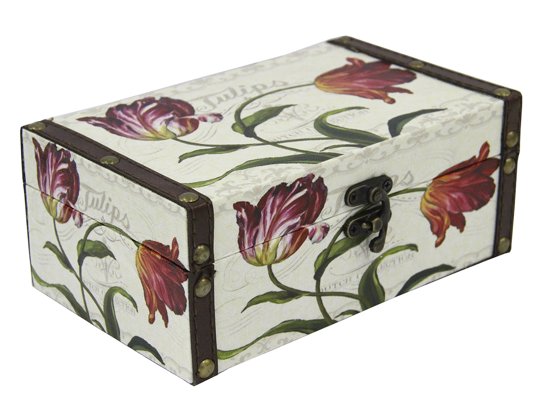 Шкатулка для рукоделия Тюльпаны, 20х12х8 см. TL4771S771514802