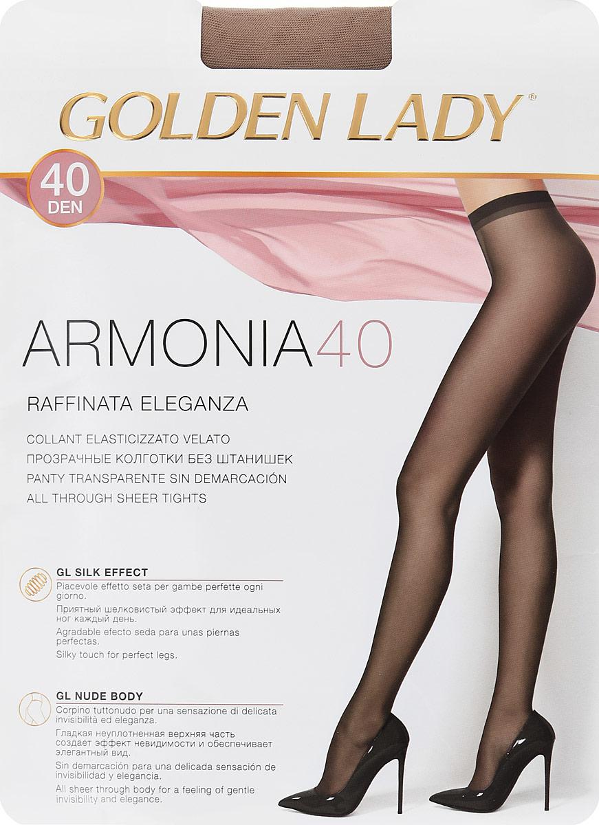 Колготки женские Golden Lady Armonia 40, цвет: загар. Размер 4Armonia 40Элегантные прозрачные эластичные колготки Golden Lady Armonia 40 без штанишек, с комфортным швом и гигиеничной ластовицей.