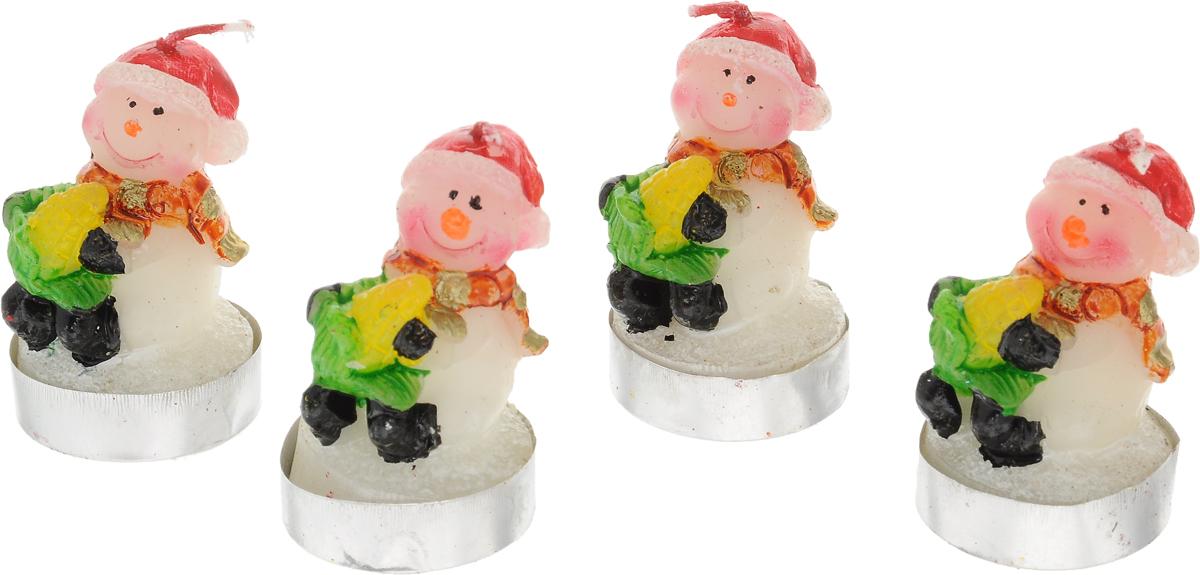Набор свечей Winter Wings Снеовик, высота 4,5 см, 4 штN161019Набор свечей Winter Wings Снеговик состоит из четырех свечей в виде снеговика. Такой набор прекрасно дополнит интерьер вашего дома в преддверии Нового Года, а также станет замечательным украшением новогоднего стола. Создайте в своем доме атмосферу тепла, веселья и радости, украшая его всей семьей.