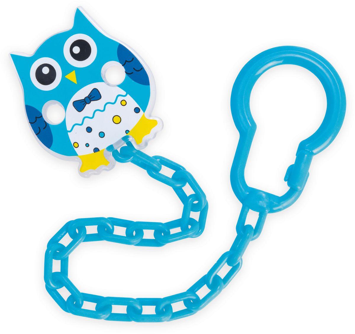 Canpol Babies Клипса-держатель для пустышки Сова цвет синий р клипса держатель для пустышек 0 цвет розовый canpol babies