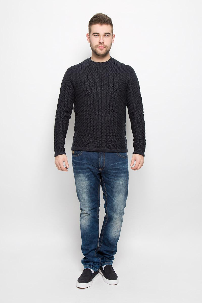 Джемпер мужской Only & Sons, цвет: темно-синий. 22004485. Размер M (46)