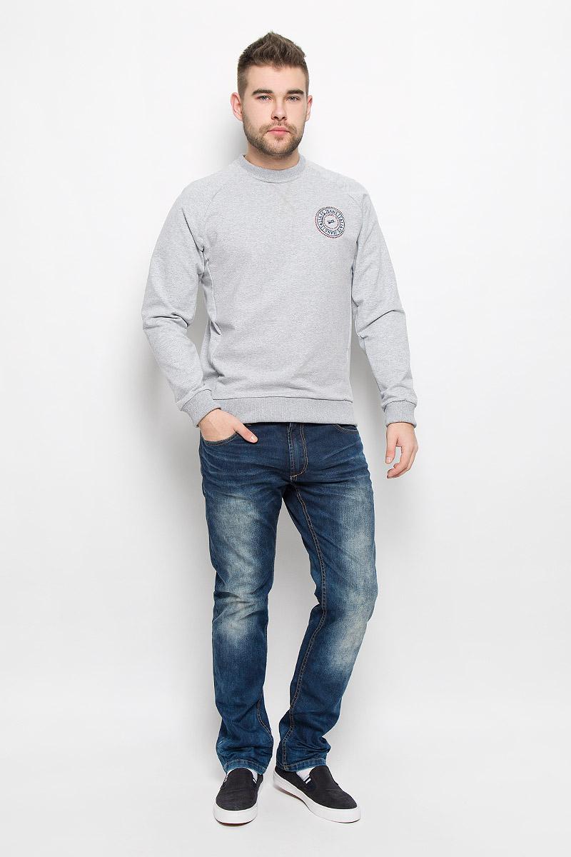 Свитшот мужской F5, цвет: светло-серый. 261001_0521. Размер M (48) футболка мужская f5 цвет синий 170092 02370 f5 размер m 48