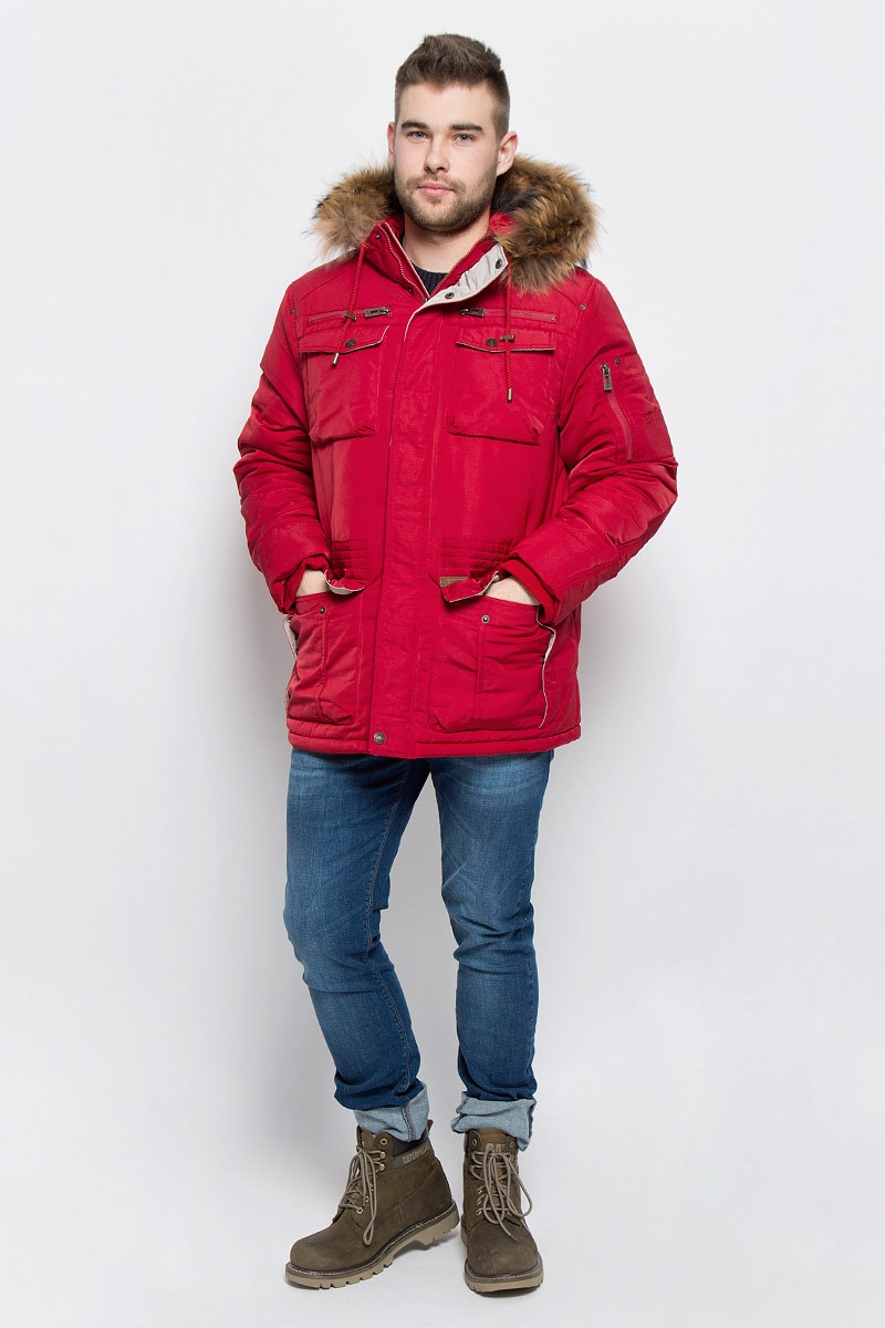 Куртка мужская Baon, цвет: темно-красный. B536522. Размер XL (52) куртка утепленная baon baon ba007emwbf47