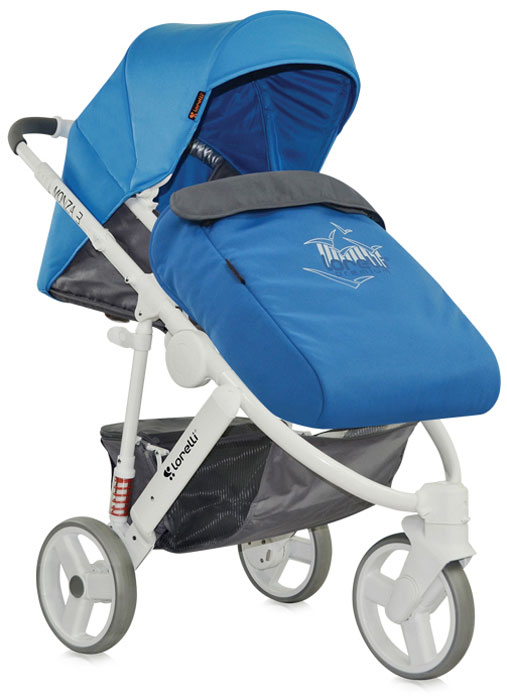 Lorelli Коляска универсальная 2 в 1 Monza-3 цвет синий серый teddy коляска 2 в 1 giovani цвет серый