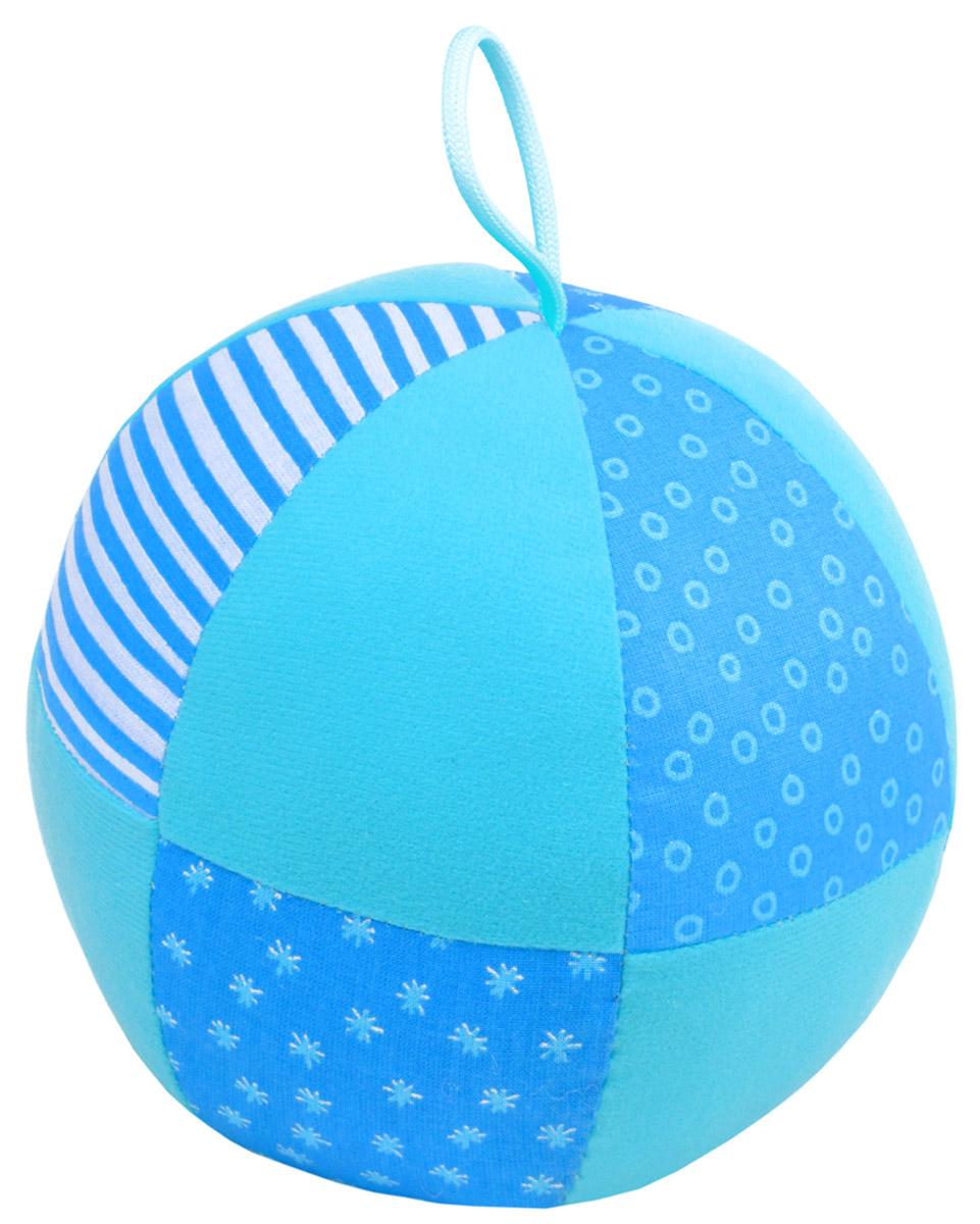 Мякиши Мягкая развивающая игрушка Веселый мячик цвет голубой мягкая игрушка погремушка мякиши собачка колечко цвет зеленый белый