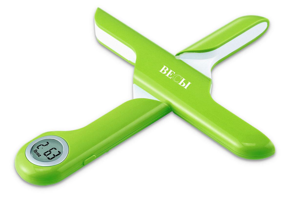 Весы кухонные Весы, электронные, пластиковые, цвет: салатовый. ЕК2520GЕК2520GКомпактные, складные, но полноценно функциональные кухонные ВЕСЫ являются прекрасным помощником для любителей приготовления домашних кулинарных изделий. ВЕСЫ могут с высокой точностью отмерять необходимое по рецептуре количество ингредиентов. Измерение веса производится с точностью до 1 грамма, при этом они рассчитаны на максимальный вес до 5 кг продукта. Имеется функция обнуления при использовании тары. ВЕСЫ позволяют последовательно добавлять ингредиенты в тару, измеряя при этом вес каждого добавляемого ингредиента, а затем и общий их вес. Полноценная функциональность весов сочетается с удивительной компактностью. Сложив ВЕСЫ после использования, их можно хранить в кухонном ящике вместе со столовыми приборами, настолько компактными они являются. Прекрасный дизайн и приятные цвета, высокая точность и значительный максимальный измеряемый вес, компактность и надёжность – все это делает ВЕСЫ незаменимыми на Вашей кухне.Характеристики:Диаметр дисплея: 20 ммВысокая точность: 1 гЗначительный измеряемый вес: до 5 кгПолноценная функциональность – обнуление веса тары, последовательное взвешивание, итоговый вес.Вес изделия 0,1 кг Питание от 1 батарейки СR2032*3V (входит в комплект)