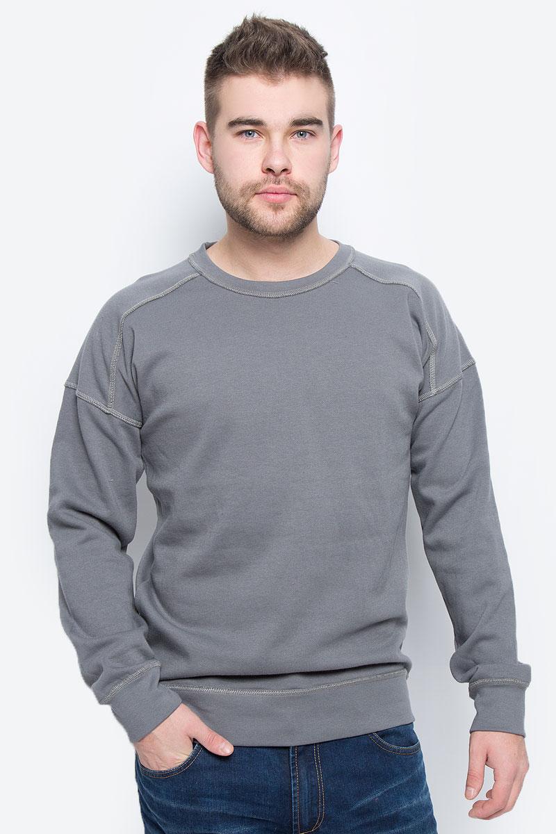 Свитшот мужской Broadway, цвет: серый. 20100260_865. Размер L (50) пуловеры broadway пуловер