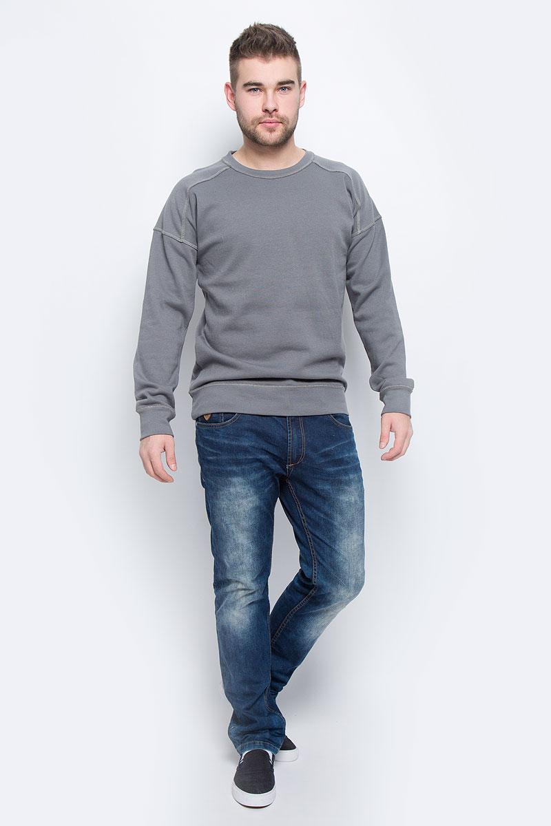 Свитшот мужской Broadway, цвет: серый. 20100260_865. Размер XXL (54) куртка мужская broadway noam цвет черный 20100303 размер xxl 54