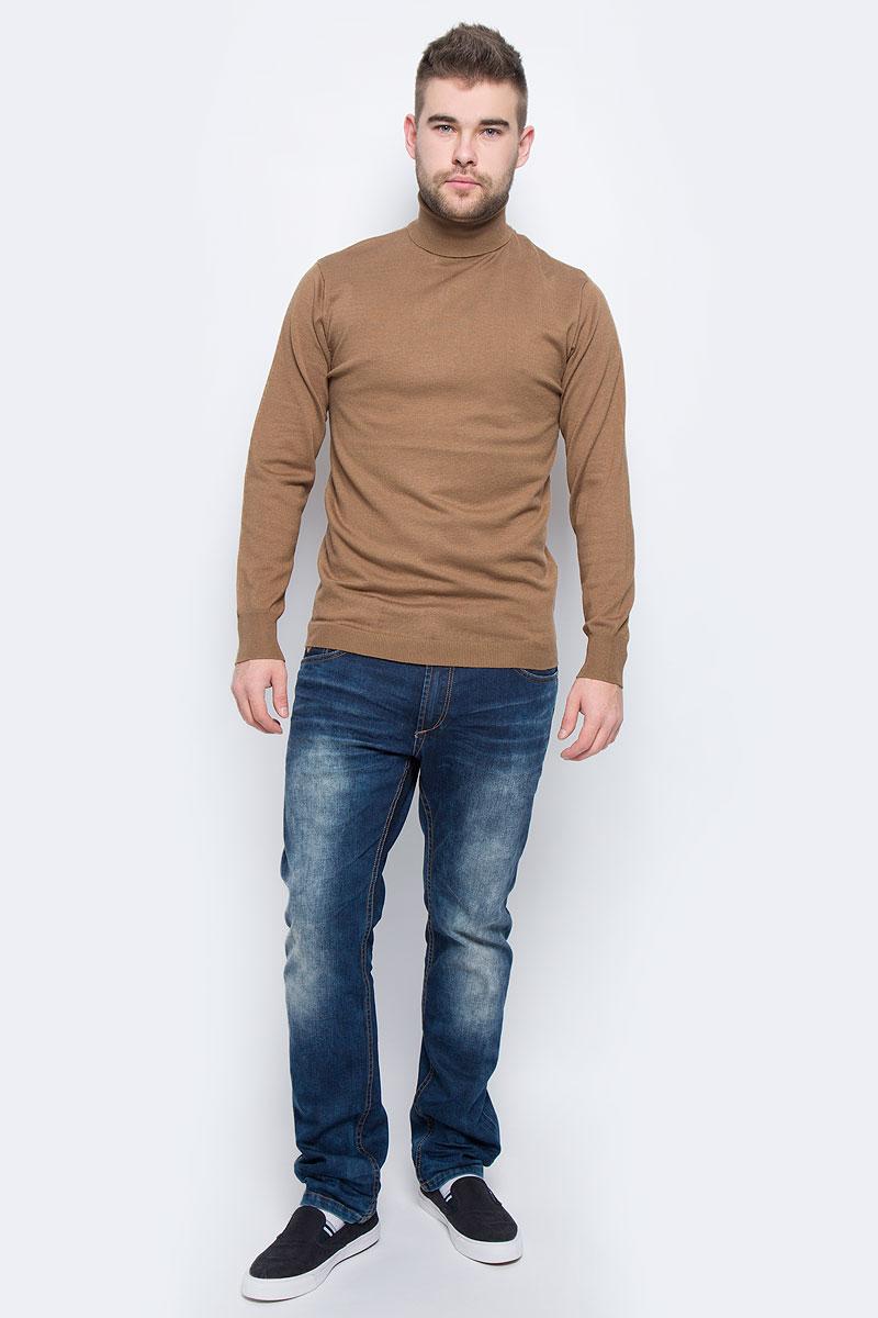 Водолазка мужская Broadway Realham, цвет: светло-коричневый. 20100478_725. Размер M (48)