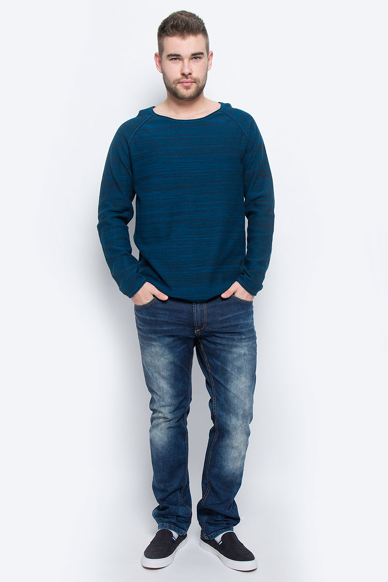 Джемпер мужской Broadway Nels, цвет: синий. 20100264_574. Размер XXL (54) куртка мужская broadway noam цвет черный 20100303 размер xxl 54
