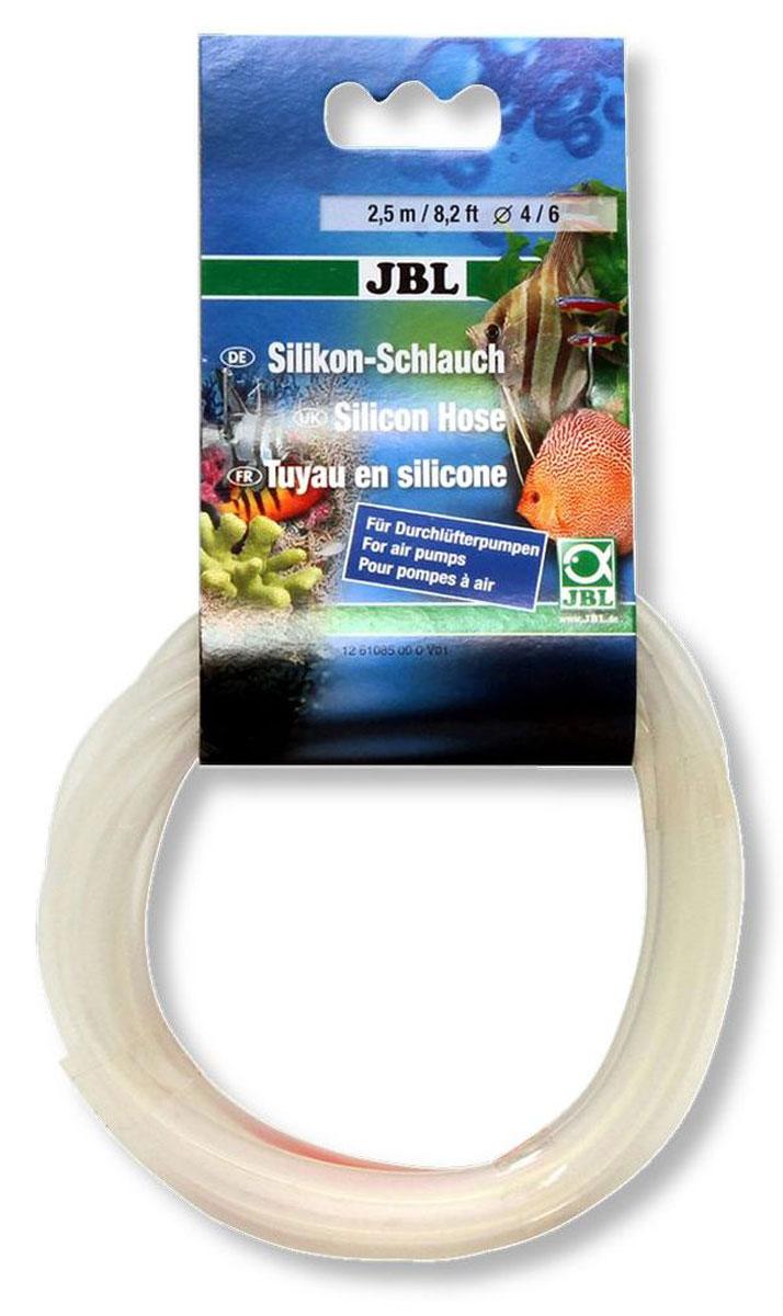 Шланг силиконовый для компрессора JBL Silikonschlauch, диаметр 4/6 мм, длина 2,5 мJBL6108500Гибкий силиконовый шланг JBL Silikonschlauch диаметром 4/6 мм предназначен для работы компрессора. Не содержит тяжелых металлов. Не подходит для CO2. Длина: 2,5 м. Диаметр: 4/6 мм.