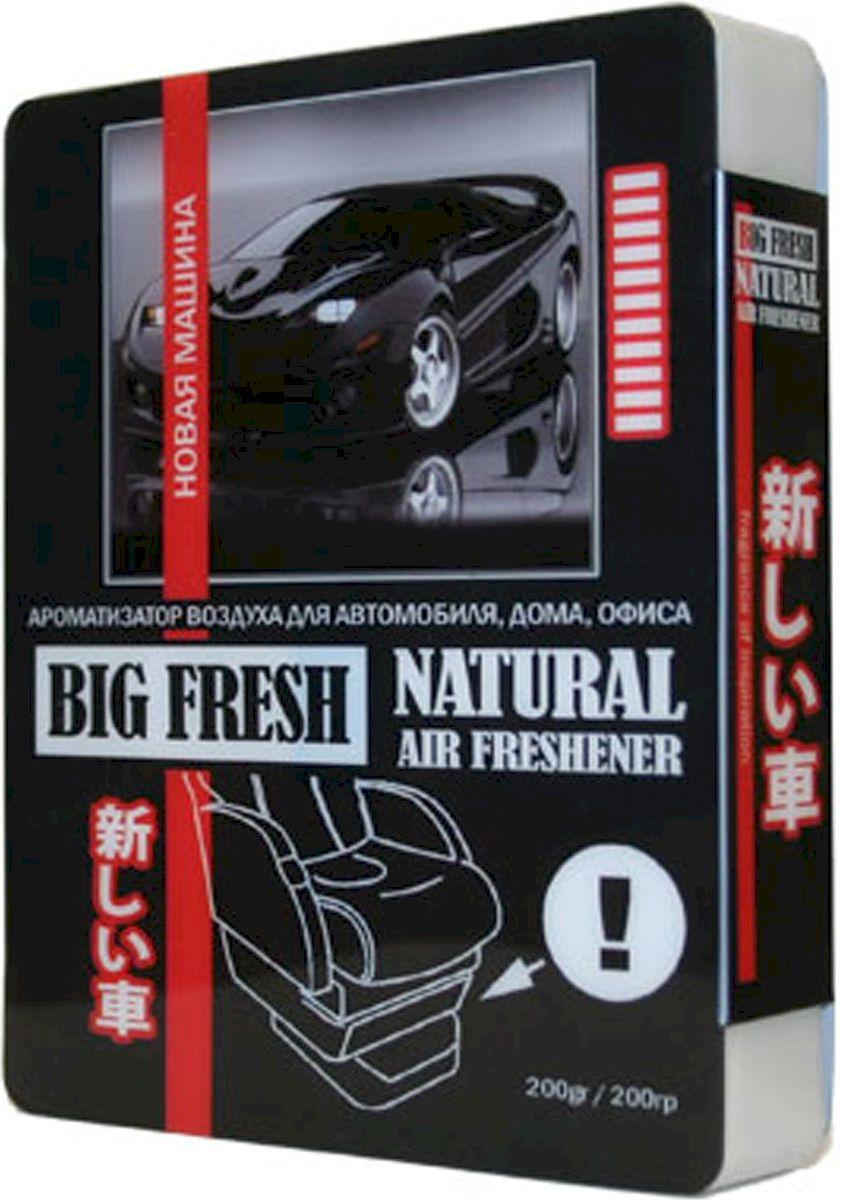 Ароматизатор автомобильный FKVJP Big Fresh. Новая машина, гелевый, под сидение, 200 гBF-72Гелевый ароматизатор FKVJP Big Fresh. Новая машина наполнит салон приятным запахом нового автомобиля надолго. Его можно незаметно разместить под сиденьем.Его ароматизирующий состав распространяет стойкие ароматы в салоне автомобиля и нейтрализует посторонние запахи, в том числе табачный.