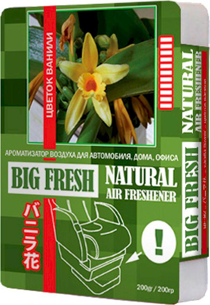 Ароматизатор автомобильный FKVJP Big Fresh. Цветок ванили, гелевый, под сидение, 200 г ароматизатор под обдув лобового стекла fkvjp wind fresh