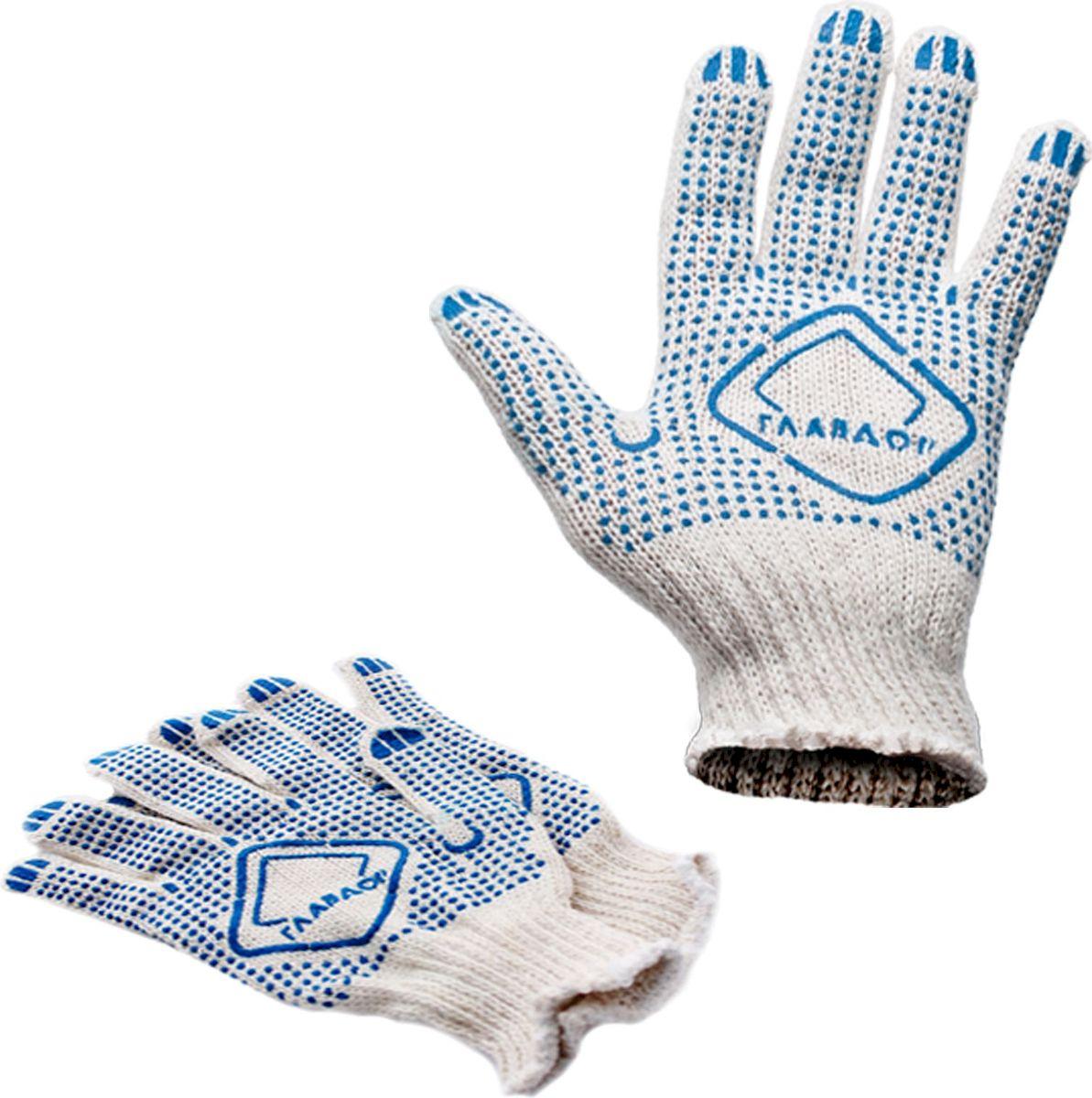 Перчатки защитные Главдор, цвет: белый. GL-106GL-106Классические защитные перчатки Главдор выполнены из хлопка в 4 нити с точками с ПВХ. Прекрасно подходят для проведения ремонтных и прочих работ, а также для защиты рук от загрязнений.
