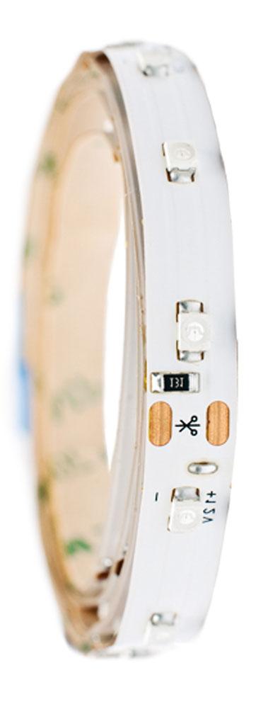Лента светодиодная Главдор, цвет: белый, 100 ммGL-121Гибкая светодиодная лента для декоративной подсветки фиксируется с помощью двухстороннего скотча. Питание: 12В. Длина: 100 мм. Белый источник света.