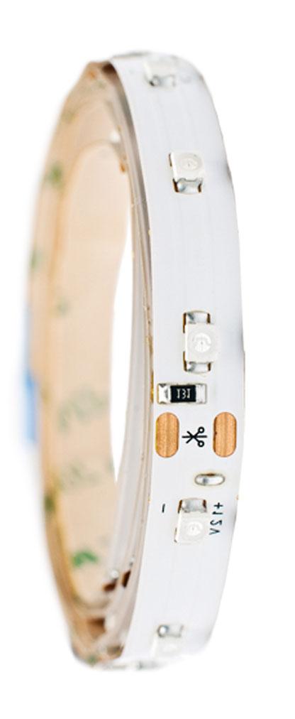 Лента светодиодная Главдор, цвет: красный, 100 ммGL-122Гибкая светодиодная лента для декоративной подсветки фиксируется с помощью двухстороннего скотча. Питание: 12В. Длина: 100 мм. Красный источник света.