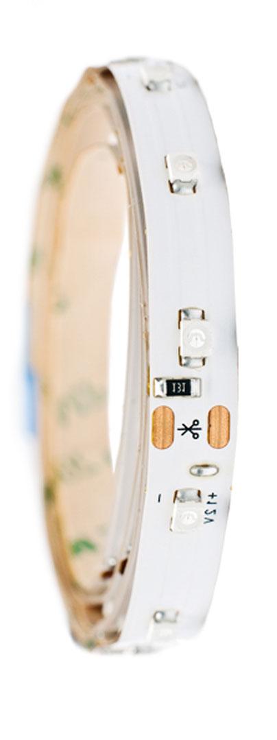 Лента светодиодная Главдор, цвет: синий, 100 ммGL-123Гибкая светодиодная лента для декоративной подсветки фиксируется с помощью двухстороннего скотча. Питание: 12В. Длина: 100 мм. Синий источник света.