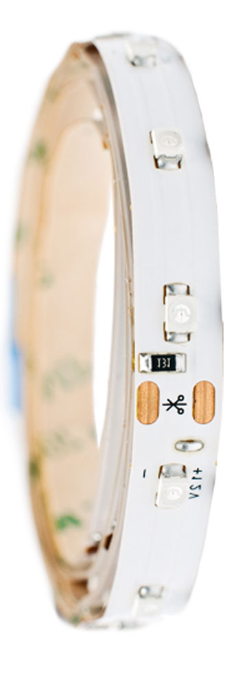 Лента светодиодная Главдор, цвет: белый, 600 ммGL-127Гибкая светодиодная лента для декоративной подсветки фиксируется с помощью двухстороннего скотча. Питание: 12В. Длина: 600 мм. Белый источник света.