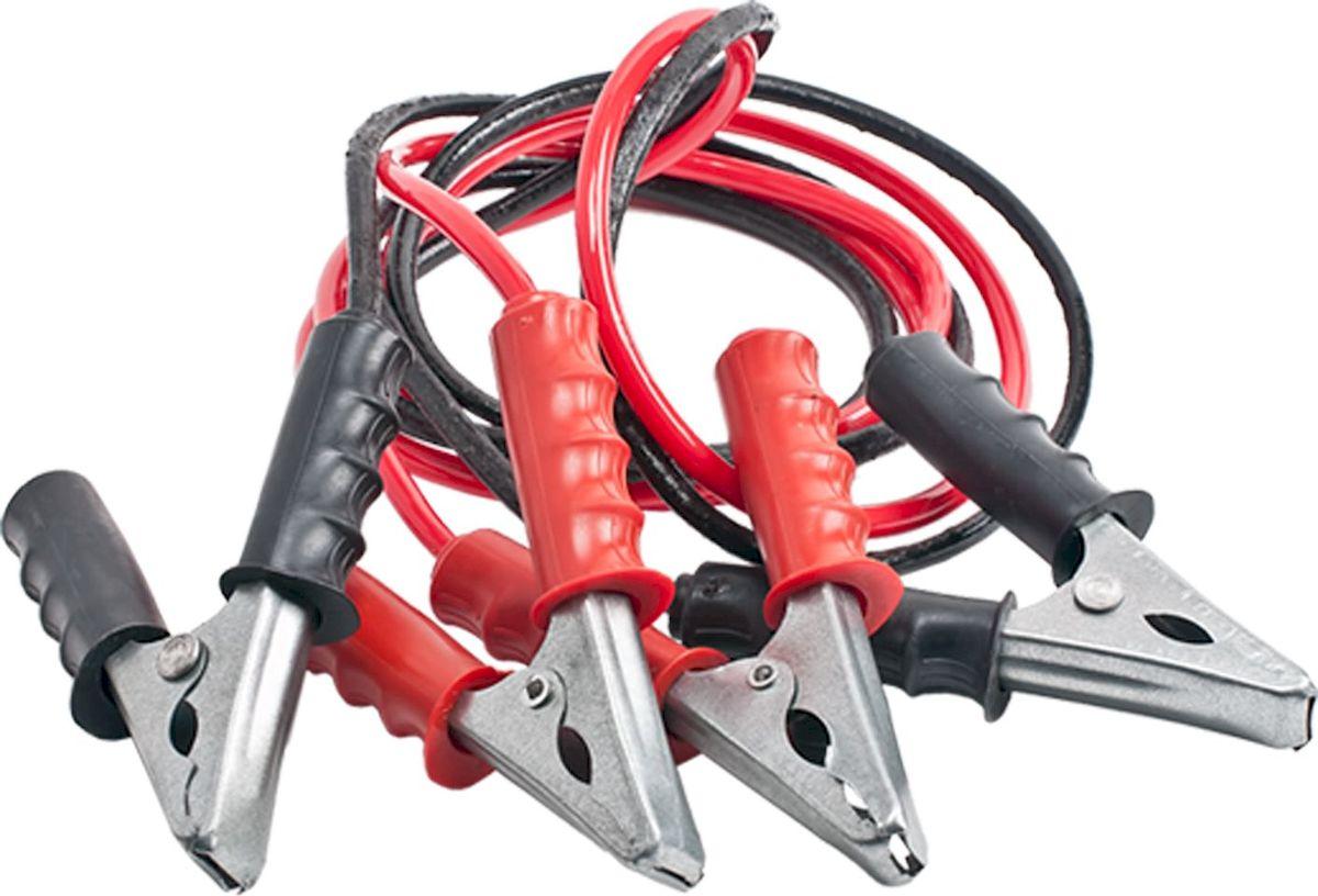 Провода пусковые Главдор, 350А, 2 м. GL-427GL-427Стартовые провода Главдор, выполненные из меди в черно-красной обмотке, предназначены для соединения одноименных клемм аккумуляторов автомобилей для того, чтобы осуществить дополнительную подпитку стартера в автомобиле с разряженной аккумуляторной батареей или загустевшим от мороза маслом. Применяются для запуска двигателей легковых и грузовых автомобилей при низкой температуре воздуха в холодное время года, а также после длительного хранения автомобиля, вызвавшего саморазряд аккумуляторной батареи.Особенности пусковых проводов: - морозостойкий эластичный кабель в резиновой изоляции, - многожильный медный проводник, - полностью изолированные зажимы, - надежные пропаянные соединения провода с зажимами.Температура эксплуатации -50 - +80°С.Длина: 2 м. Напряжение: 350А.