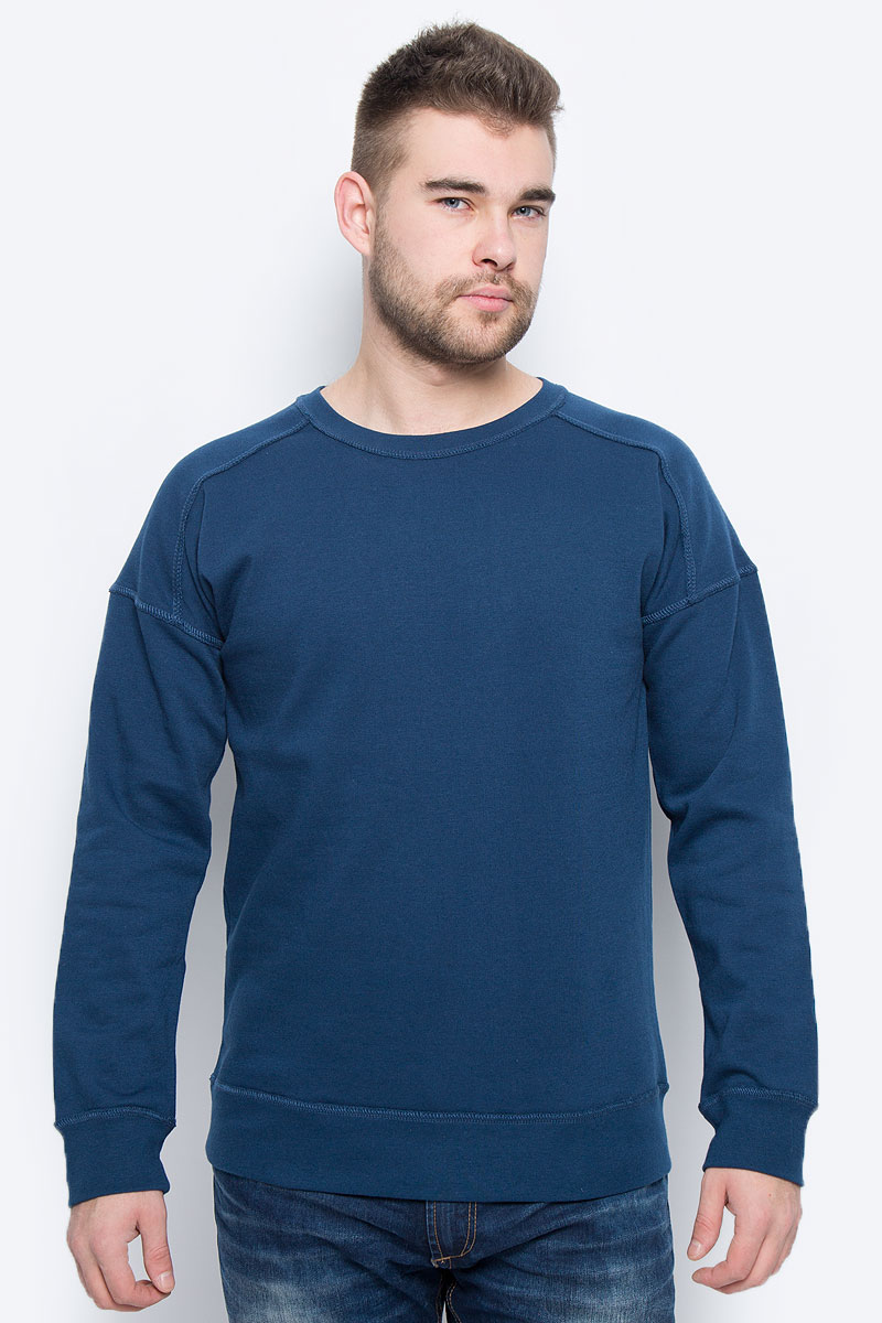 Свитшот мужской Broadway, цвет: темно-синий. 20100260_574. Размер M (48) пуловеры broadway пуловер