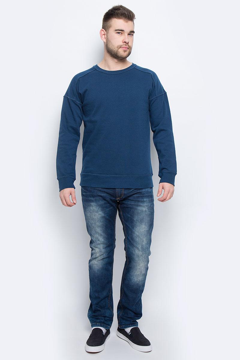Свитшот мужской Broadway, цвет: темно-синий. 20100260_574. Размер XXL (54) куртка мужская broadway noam цвет черный 20100303 размер xxl 54