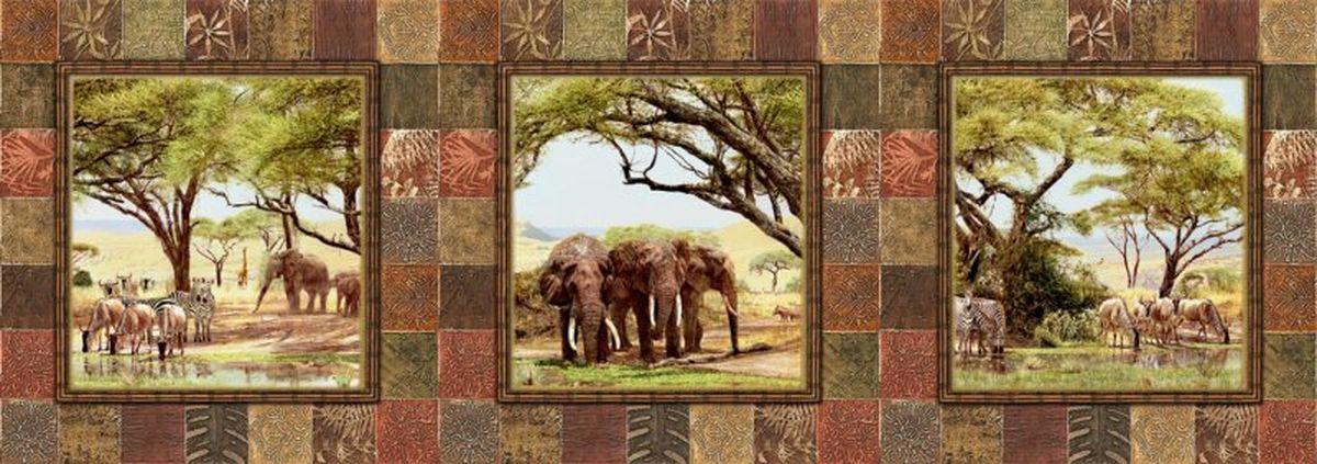Панно декоративное Твоя Планета Африканские наброски, 315 х 110 см4607161054963Декоративное настенное панно Твоя Планета Африканские наброски,станет идеальным украшением загородного дома или рабочего кабинета. Панно оформлено изображением животных Африки.Панно выполнено на флизелиновой основе с виниловым покрытием.Такое панно станет изысканным дополнением к интерьеру и подчеркнет аристократичность и безупречное чувство вкуса своего будущего обладателя.