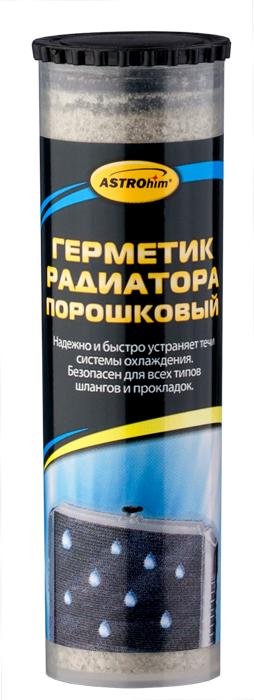 Герметик радиатора ASTROhim, порошковый, 50 млАС-179Герметик радиатора ASTROhim надежно и быстро устраняет течи радиатора, отопителя и прочих элементов системы охлаждения, при условии, если повреждения не слишком значительны. Одинаково эффективен для латунных и алюминиевых радиаторов. Совместим со всеми типами охлаждающих жидкостей, не нарушает их химический баланс. Безопасен для всех типов шлангов и прокладок. Не забивает каналы радиатора. Один флакон рассчитан на систему охлаждения объемом до 8 л. Товар сертифицирован.
