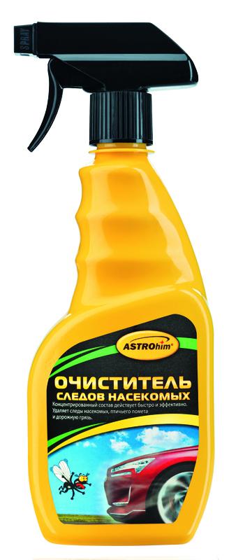 Очиститель следов насекомых ASTROhim, 500 млАС-415Очиститель следов насекомых ASTROhim обеспечивает быструю очистку любой поверхности (лакокрасочного покрытия, стекол, фар, хрома или пластика) от следов насекомых и птичьего помета. Обладает высокой очищающей способностью, поскольку содержит специальные поверхностно-активные вещества для удаления белковых загрязнений, которые проникают в загрязнения и расщепляют их. С легкостью удаляет как свежие, так и застарелые пятна, не повреждая при этом лакокрасочное покрытие. После обработки не оставляет разводов. Не содержит растворителей, поэтому безопасно воздействует на любые поверхности. Обладает приятным ароматом. Остатки очистителя легко смываются обычной чистой водой, не оставляя при этом жирных пятен и не требуя мойки кузова. Товар сертифицирован.