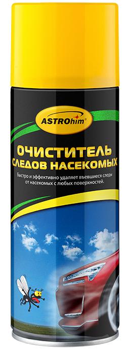 Очиститель следов насекомых Astrohim, аэрозоль 520 млАС-4155Очиститель следов насекомых Astrohim обеспечивает быструю очистку любой поверхности (лакокрасочного покрытия, стекол, фар, хрома или пластика) от следов насекомых и птичьего помета. Обладает высокой очищающей способностью, поскольку содержит специальные поверхностно-активные вещества для удаления белковых загрязнений, которые проникают в загрязнения и расщепляют их. С легкостью удаляет как свежие, так и застарелые пятна, не повреждая при этом лакокрасочное покрытие.После обработки не оставляет разводов. Не содержит растворителей, поэтому безопасно воздействует на любые поверхности.Обладает приятным ароматом. Остатки очистителя легко смываются обычной чистой водой, не оставляя при этом жирных пятен и не требуя мойки кузова.