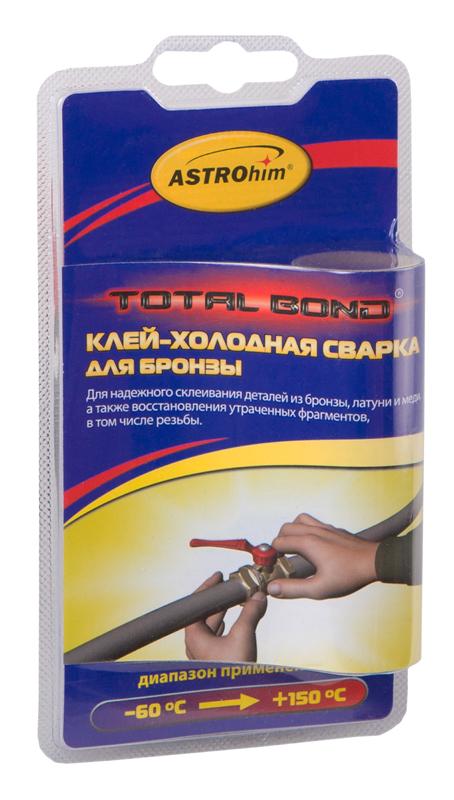 Клей-холодная сварка Astrohim, для бронзы, 55 гАС-9309Предназначен для быстрого и надежного склеивания, ремонта деталей и узлов, герметизации соединений и емкостей, для восстановления утраченных фрагментов изделий из бронзы, латуни и меди, в том числе с разнородными материалами в различных комбинациях (сталь, дерево, керамика). Температура эксплуатации отремонтированных изделий от -60 °С до +150 °С.
