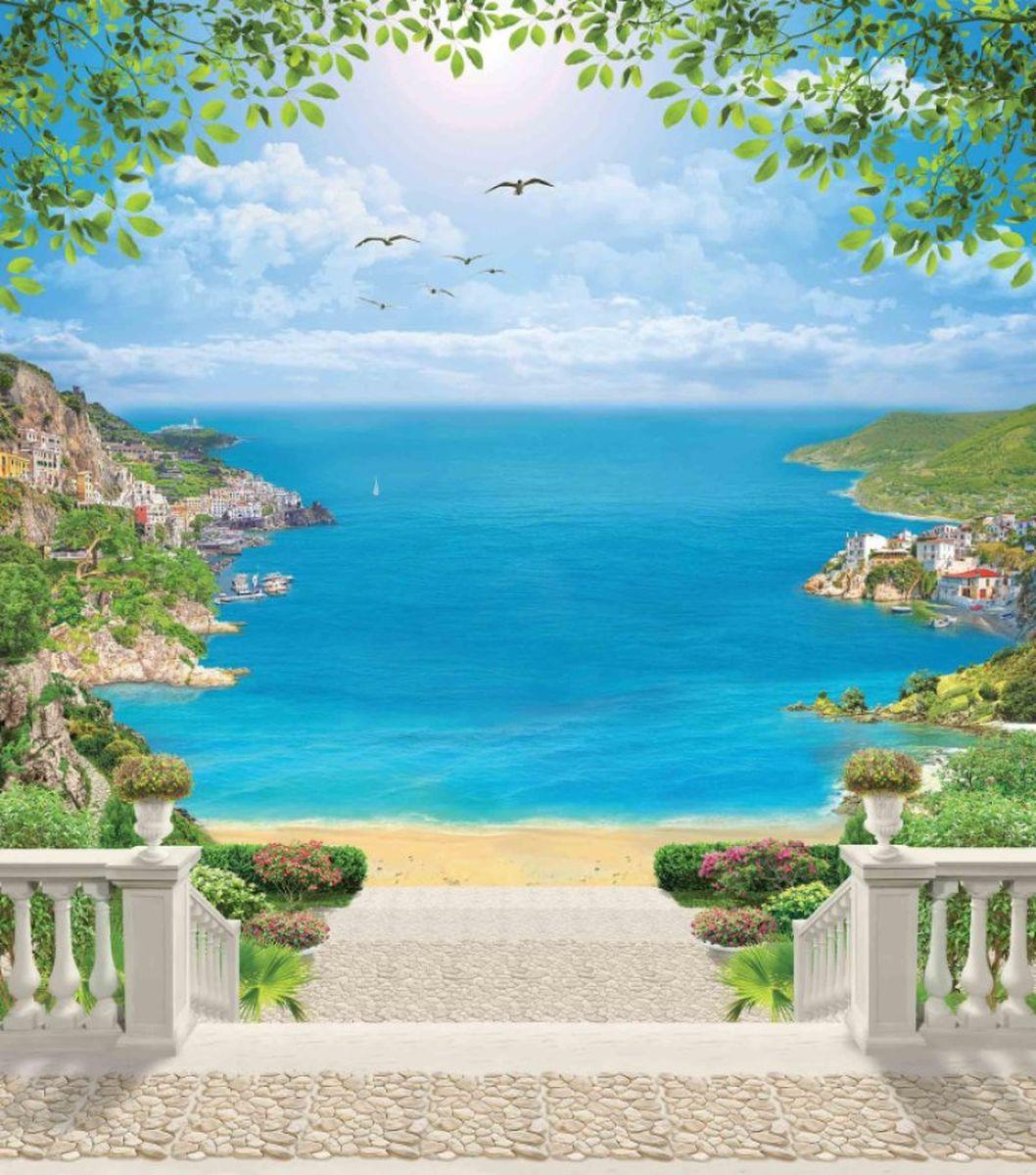 Панно декоративное Твоя Планета Лазурный берег, 210 х 238 см панно декоративное твоя планета кино 210 х 147 см