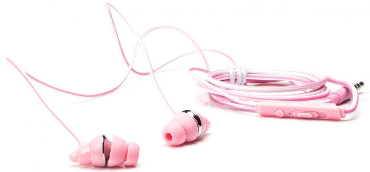 Harper HV-405, Pink наушникиH00000981Harper HV-405 - это не только мощные динамики, обеспечивающие высококачественное звучание, но и сверхмягкие силиконовые амбушюры различных размеров, обеспечивающие прилегание к уху почти в любой ситуации, что делает их идеальным выбором для людей, любящих жизнь в движении. Корпус сочетает в себе легкость и прочность и еще больше подчеркивает внешнюю привлекательность HV-405. Звук высокого разрешения обеспечивает максимально качественное воспроизведение музыки. Наушники также оснащены универсальным пультом ДУ со встроенным микрофоном, который позволяет отвечать на телефонные звонки.