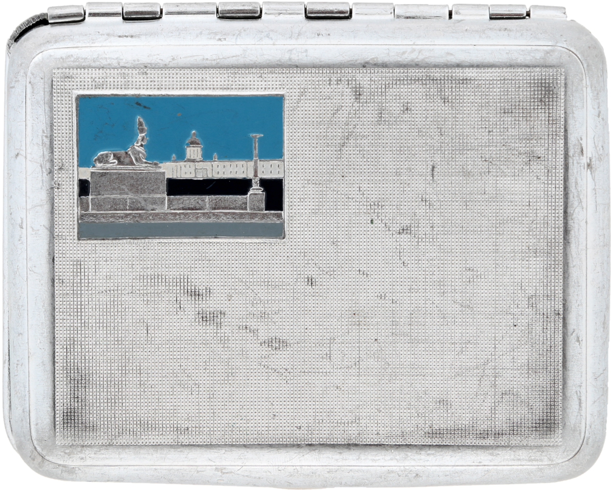 Портсигар Сфинкс. Металл, эмаль. СССР, 1960-е гг. ваза mughal l 20 х 20 х 30 см