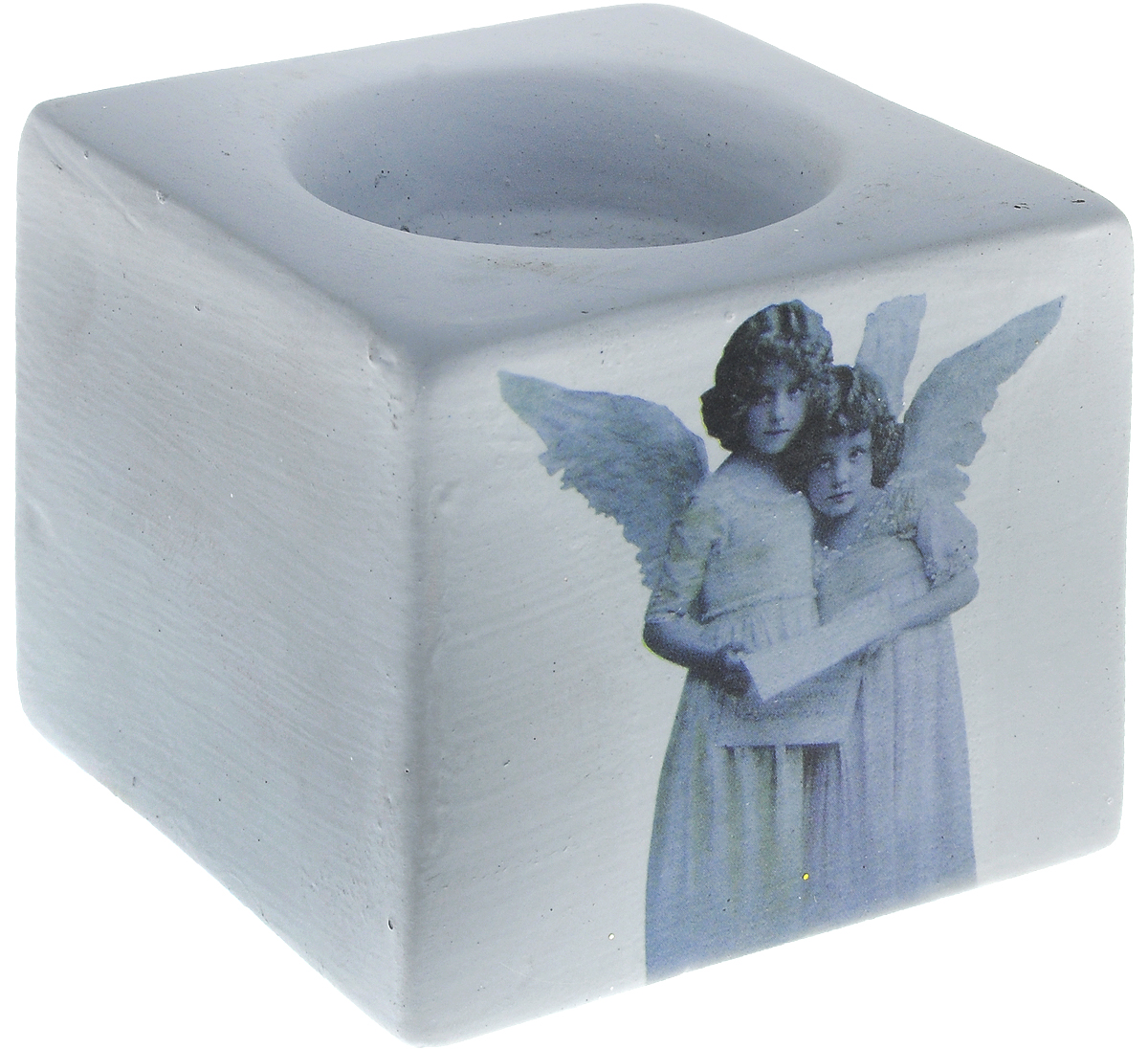 Подсвечник новогодний Winter Wings Ангелы, 6 х 7 х 7 смN162144Подсвечник Winter Wings Ангелы выполнен из керамики с изображением ангелов. В подсвечнике имеется специальное место для свечки. Изделие будет прекрасно смотреться на праздничном столе. Новогодние украшения несут в себе волшебство и красоту праздника. Они помогут вам украсить дом к предстоящим праздникам и оживить интерьер по вашему вкусу. Создайте в доме атмосферу тепла, веселья и радости, украшая его всей семьей.Диаметр места для свечки: 4,5 см.