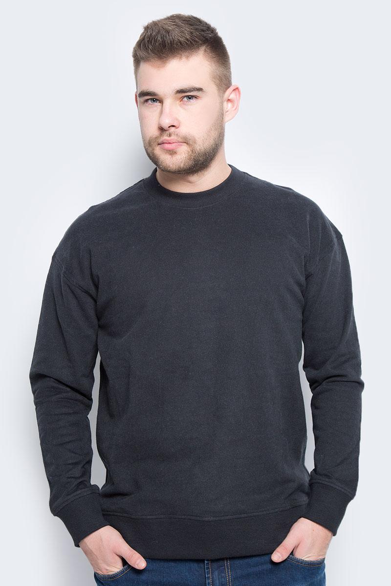 Свитшот мужской Selected Homme, цвет: черно-синий. 16051446. Размер XL (50)