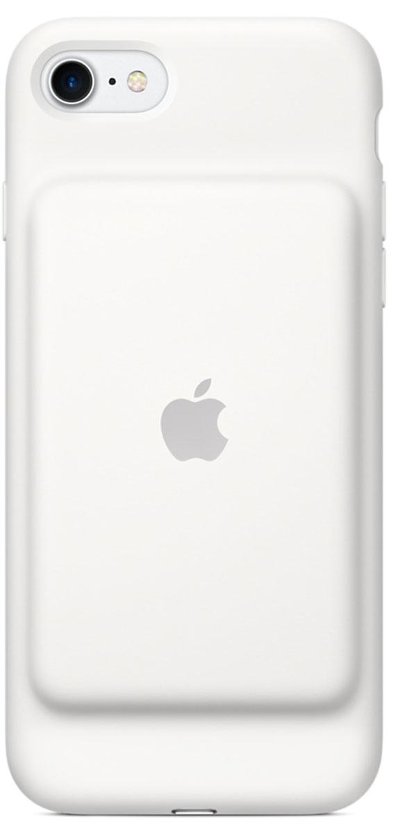 Apple Smart Battery Case чехол для iPhone 7, White чехол для iphone 5 глянцевый с полной запечаткой printio beardman case