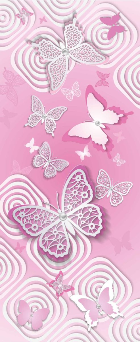 Панно декоративное Твоя Планета Баттерфляй, цвет: розовый 105 х 254 см4607161054789_розовый