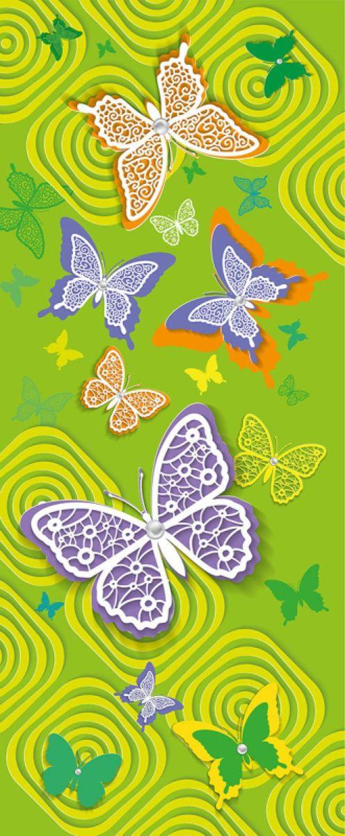 Панно декоративное Твоя Планета Баттерфляй, цвет: зеленый, 105 х 254 см4607161054789_зеленый