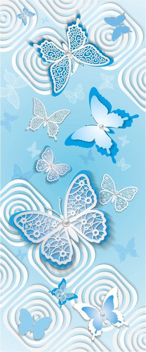 Панно декоративное Твоя Планета Баттерфляй, цвет: голубой, 105 х 254 см4607161054789_голубой