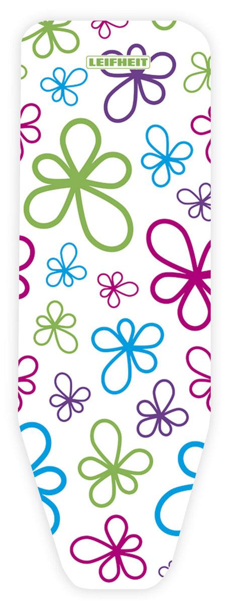 Чехол для гладильной доски Leifheit  Cotton Classic L , на защелке, цвет: белый, голубой, зеленый, 135 х 45 см. 72322 - Гладильные доски