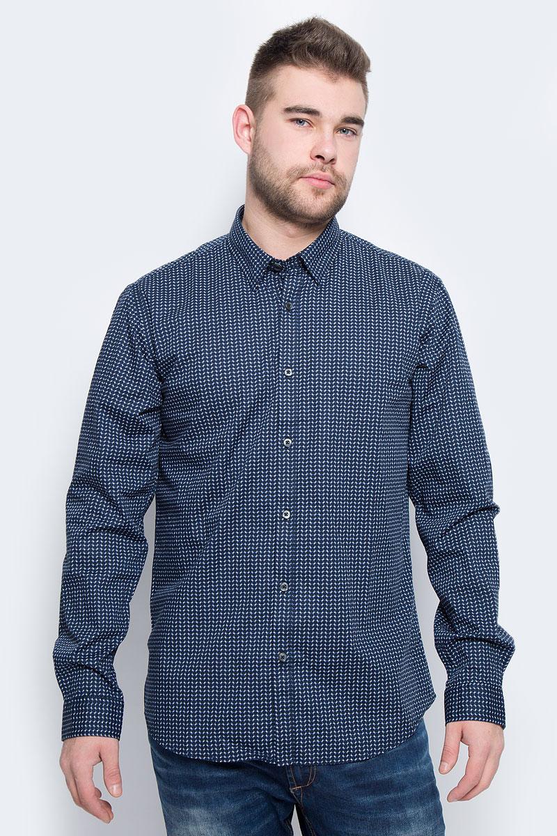 Рубашка мужская Broadway Rolla, цвет: темно-синий. 20100443_563. Размер L (50) пуловеры broadway пуловер