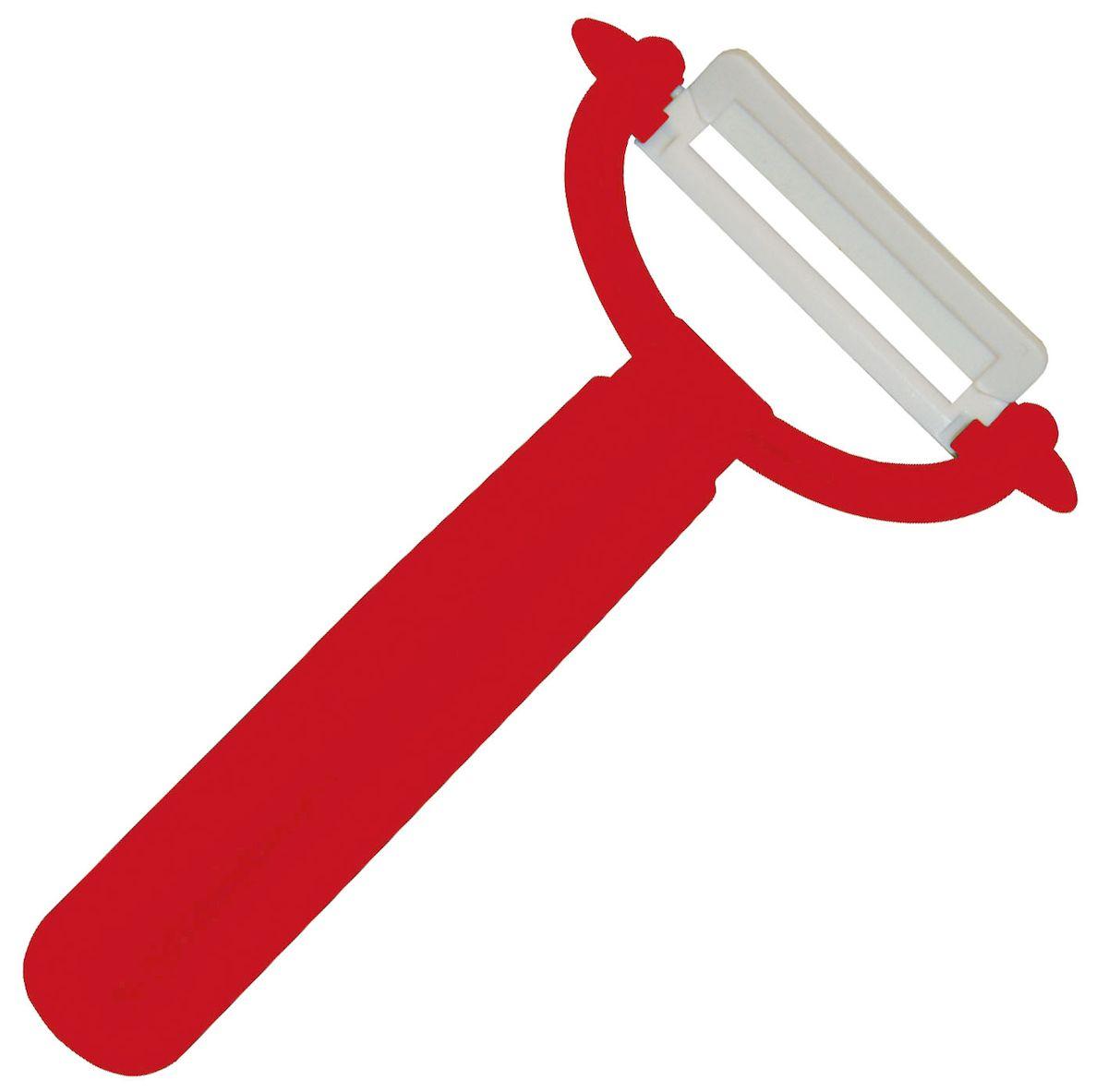 Овощечистка Axentia, цвет: красный, белый, длина 15 см200597Овощечистка Axentia выполнена из керамики и пластика. Очень удобная ручка не позволит выскользнуть овощечистке из вашей руки. Удобная овощечистка Axentia поможет вам очень быстро и без особого усилия почистить овощи.Можно мыть в посудомоечной машине.Общая длина овощечистки: 15 см.
