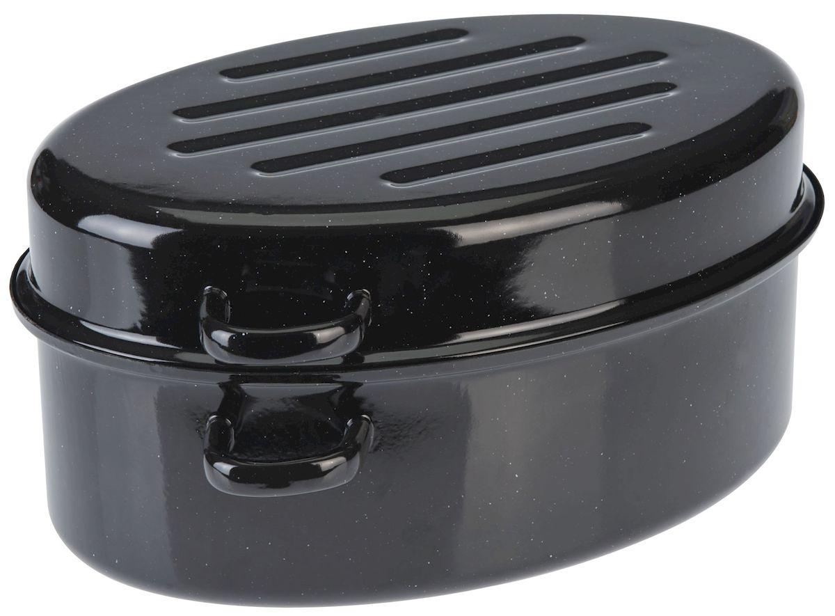 Утятница Axentia с крышкой, с эмалированным покрытием, 2,7 л220430Утятница Axentia, изготовленный из стали, идеально подходит для приготовления вкусных тушеных блюд. Она имеет внутреннее высококачественное твердое эмалевое покрытие.Утятница оснащена двумя удобными ручками и крышкой, которая плотно прилегает к краю, сохраняя аромат блюд. Идеально для нежной жарки, варки и тушения с низком содержанием жира для приготовления гусей, курицы, утки. Изделие оснащено специальным покрытием для легкой очистки. Подходит для всех типов плит, включая индукционные. Можно использовать в духовом шкафу. Можно мыть в посудомоечной машине.
