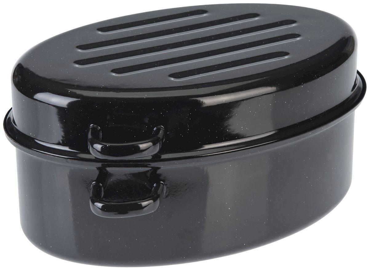 """Утятница """"Axentia"""", изготовленный из стали, идеально подходит для приготовления вкусных тушеных блюд. Она имеет внутреннее высококачественное твердое эмалевое покрытие.  Утятница оснащена двумя удобными ручками и крышкой, которая плотно прилегает к краю, сохраняя аромат блюд. Идеально для нежной жарки, варки и тушения с низком содержанием жира для приготовления гусей, курицы, утки. Изделие оснащено специальным покрытием для легкой очистки. Подходит для всех типов плит, включая индукционные. Можно использовать в духовом шкафу. Можно мыть в посудомоечной машине."""